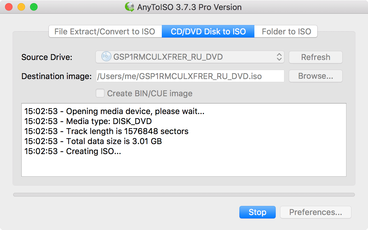 AnyToISO for Mac 3.8.2 破解版 - 强大的ISO镜像制作工具
