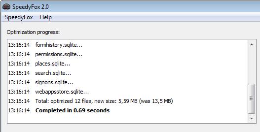 SpeedyFox - Boost Firefox, Skype, Chrome, Thunderbird in a